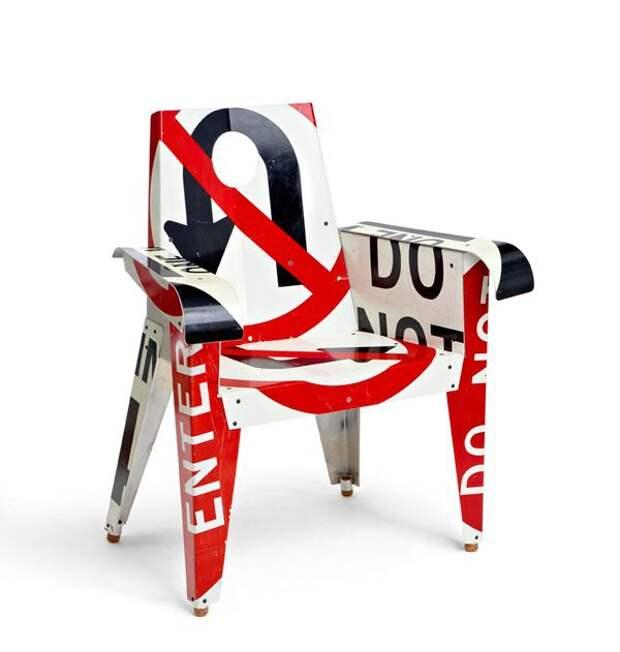 Мебель из дорожных знаков (подборка, Diy)