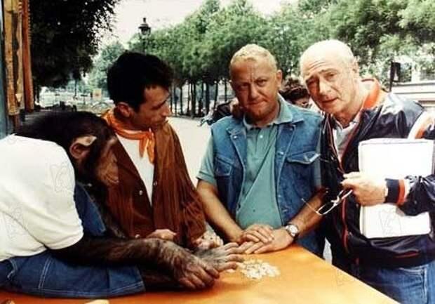 """Колюш и Жерар Ури на съемках фильма """"Месть пернатого зверя"""", 1984 год"""