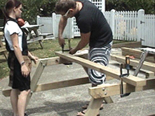 как сделать стол для пикника