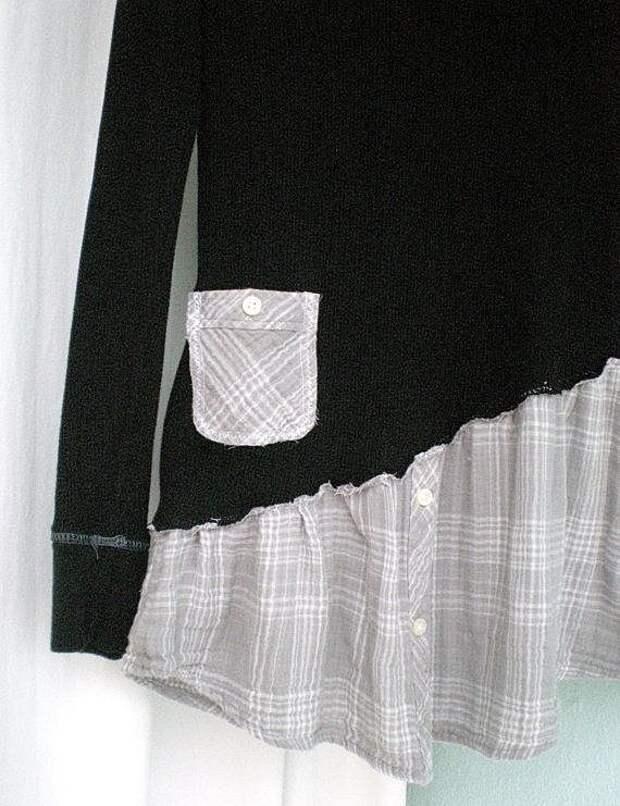 Свитер + рубашка (идея)