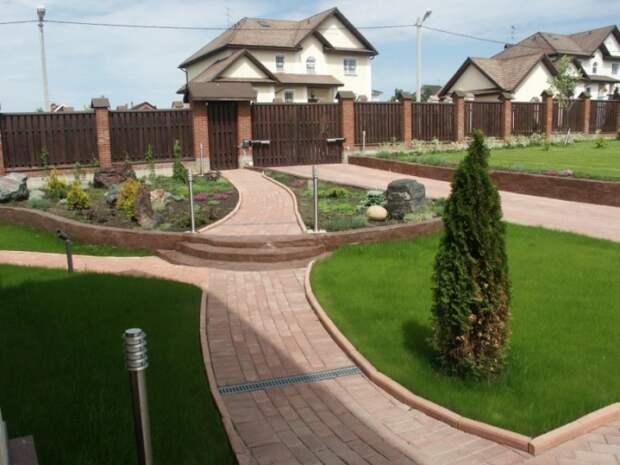 Как сделать красивый двор частного дома своими руками