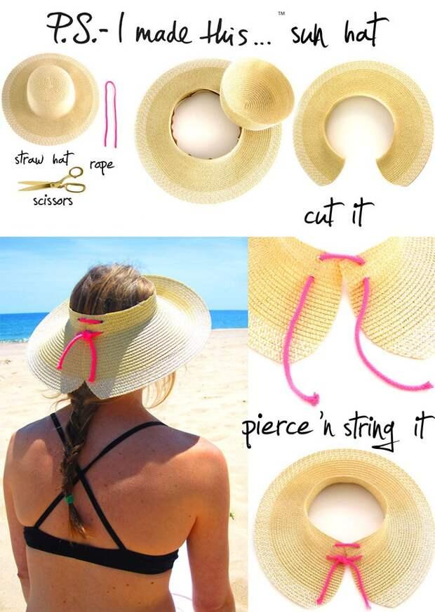 Шляпа от солнца (Diy)