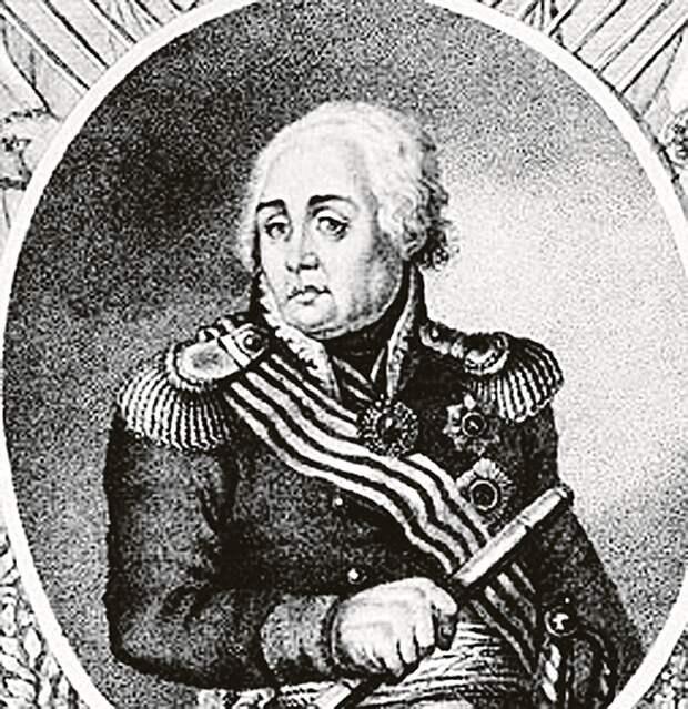 Гравюра А. Грачева. 1813.  У Кутузова повязки на лице не было. Один из последних его прижизненных портретов.