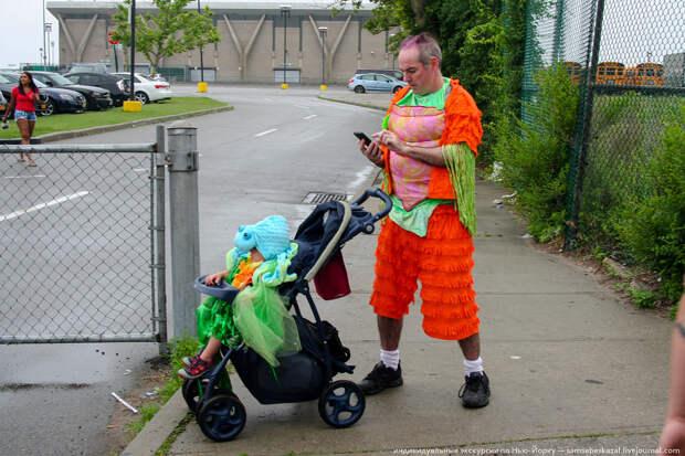Папа с ребенком. америкосы, манхетон, руссалки