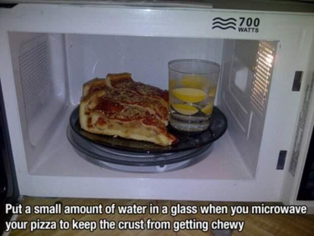 Разогрев пиццы