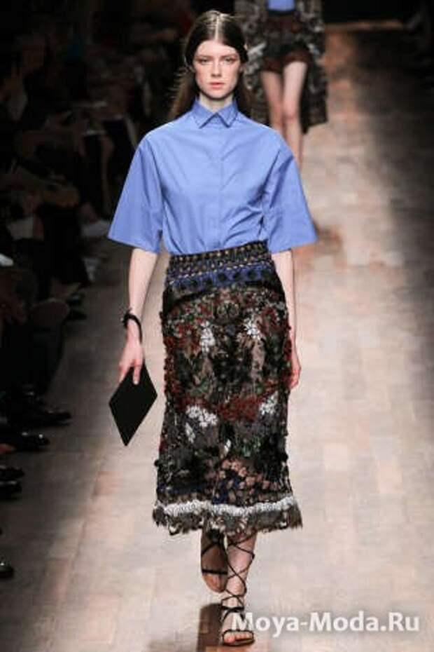 Модные юбки весна-лето 2015 Valentino