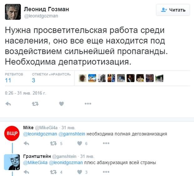 Леонид Гозман: Слишком много патриотов развелось