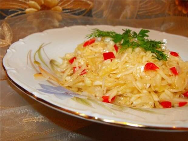 Салат из капусты с уксусом: 4 варианта рецепта