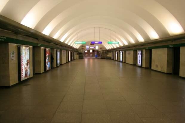 Черным цементом по белой краске: станция метро «Гостиный двор» превращается в сельский клуб