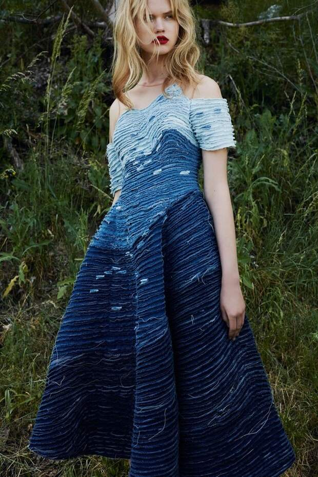 denim dress from Alena Akhmadullina Resort 2016