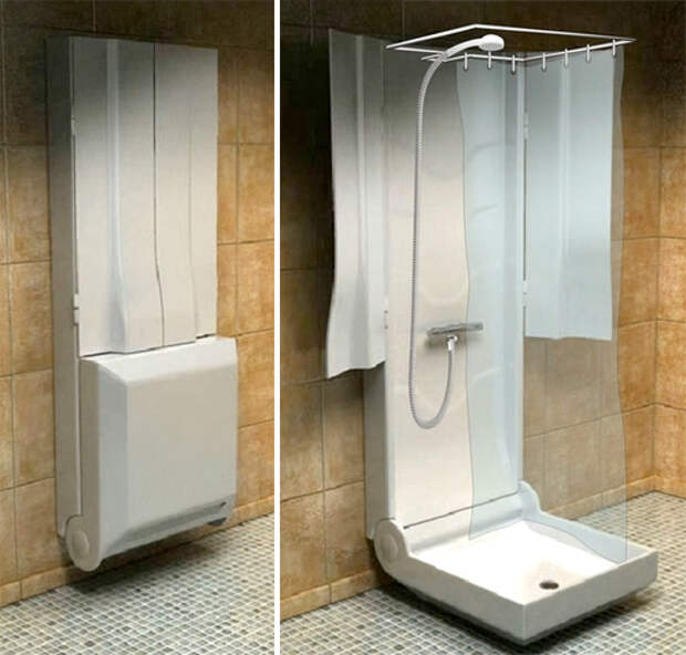 Складной душ хоть в ванной, хоть в гостиной