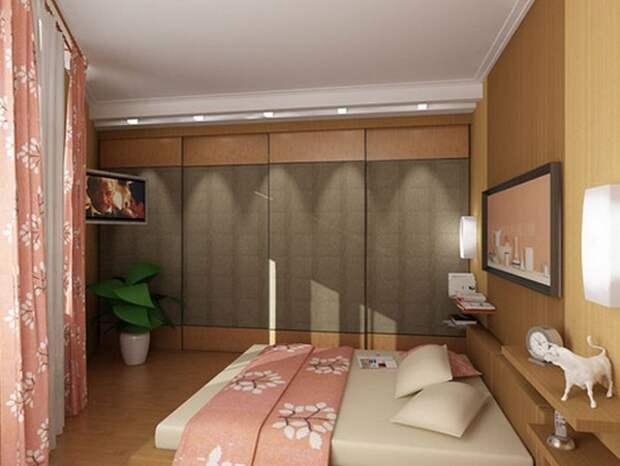 Спальня без окон дизайн, создать координационный центр