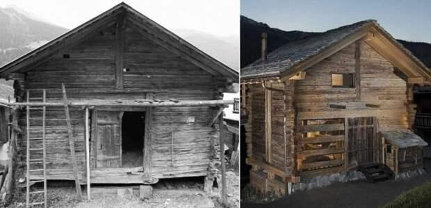 Как в Швейцарии 200-летний сарай превратили в уютный 3-этажный дом