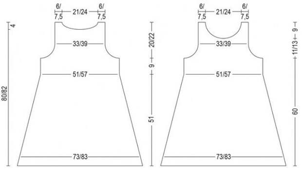 Два модных топа - туники спицами