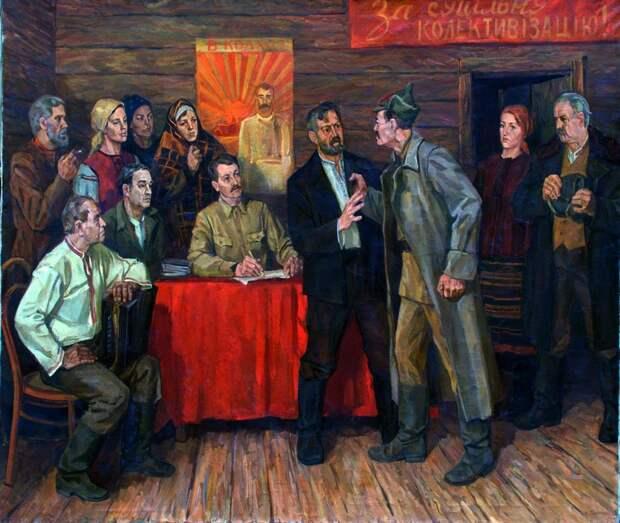Нина Марченко. Запись в колхоз. 1985