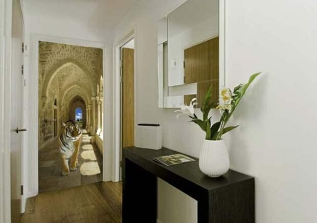 3D-фотообои в коридоре