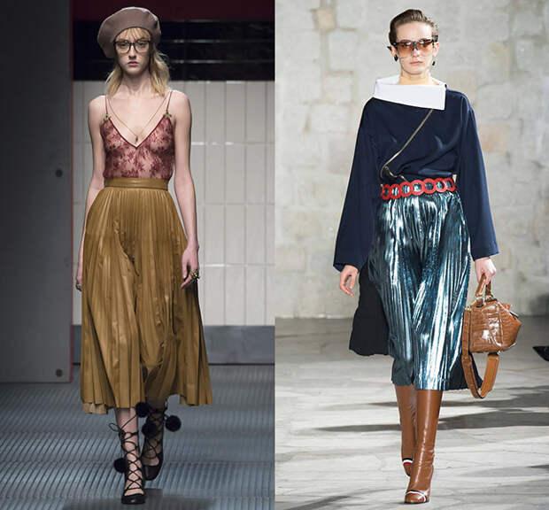 Слева — Gucci, справа — Loewe