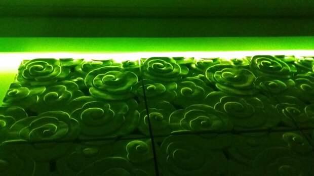Монтаж декоративных панелей, декоративные панели с подсветкой