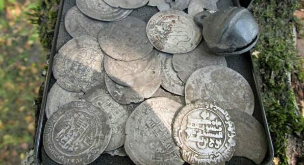 Археологи исследовали найденный на Рязанщине клад средневековых восточных монет