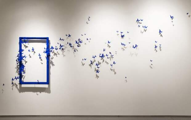 3D-Бабочки, летучие мышки и птички (трафик)