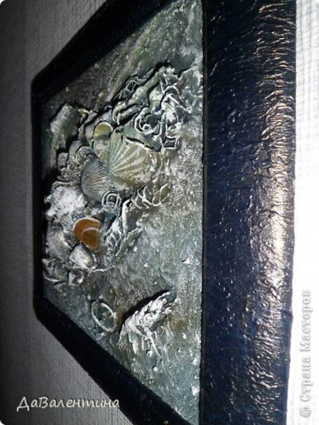 Картина панно рисунок Мастер-класс Коллаж Коллаж в технике терра Мастер-класс Морское дно с креветками Материал природный фото 17