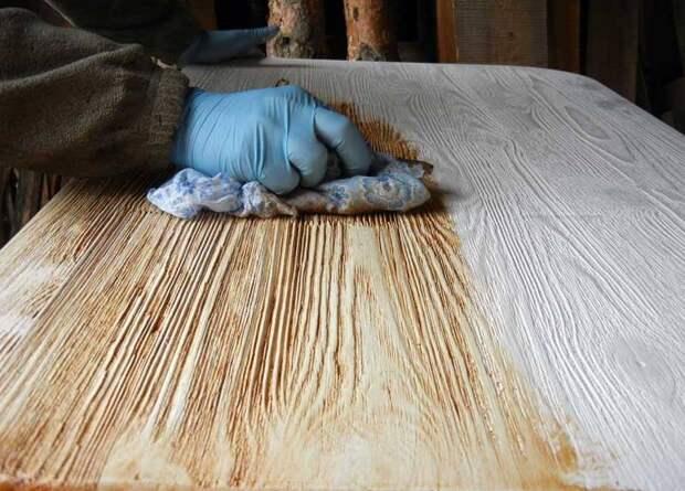 Покраска мебели «под старину»