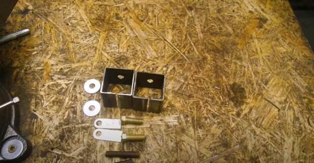 Удобный сварочный зажим из профтрубы и обрезков металла