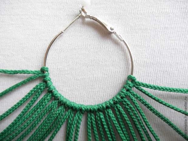 плетеные серьги