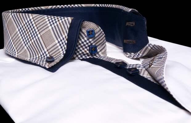 Мужские рубашки с двойным воротником — стильная классика