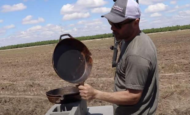 Стреляем из арбалета в чугунную сковородку и кевлар: видео