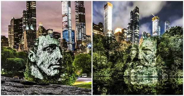 Природа с человеческим лицом. Уличный художник вывел искусство на новый уровень