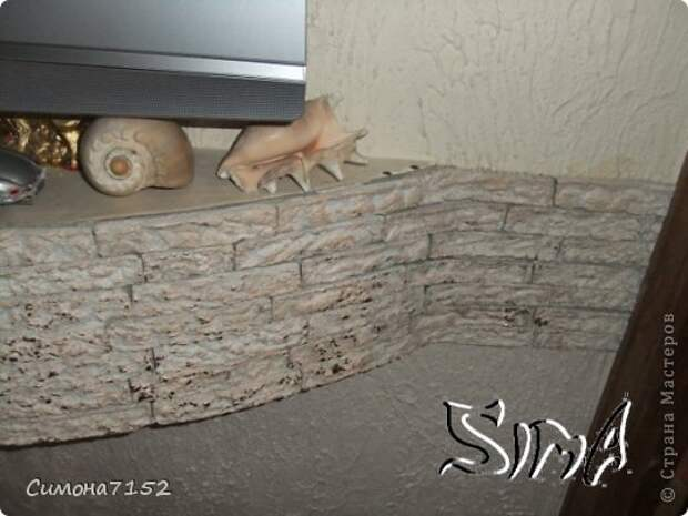Интерьер Мастер-класс Папье-маше Процесс декорирования стены камнем из бумаги Бумага фото 10