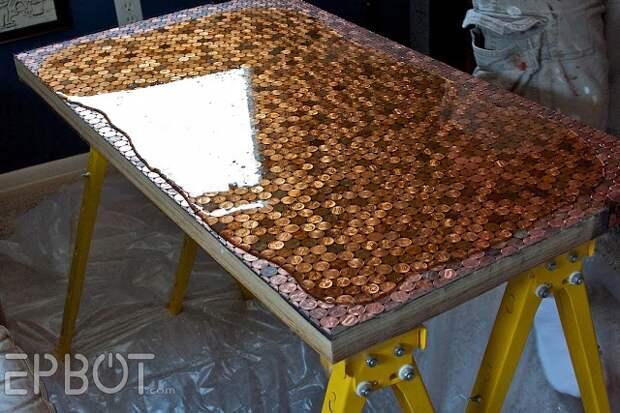 Столик из монет (Diy)