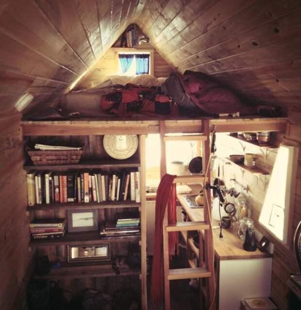 Великолепный способ экономного использования свободного пространства в доме.