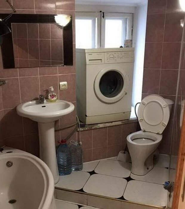 Это идеальное место для стиральной машинки! | Фото: pixmafia.com.