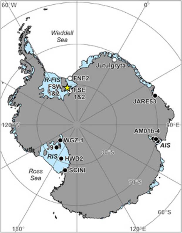 Антарктические шельфовые ледники