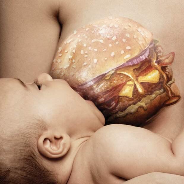Беременность и вредная еда — невероятная бразильская социальная реклама