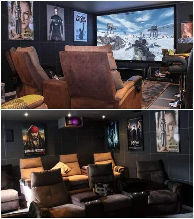 8 домашних кинозалов, созданных креативными владельцами в гаражах и подвалах