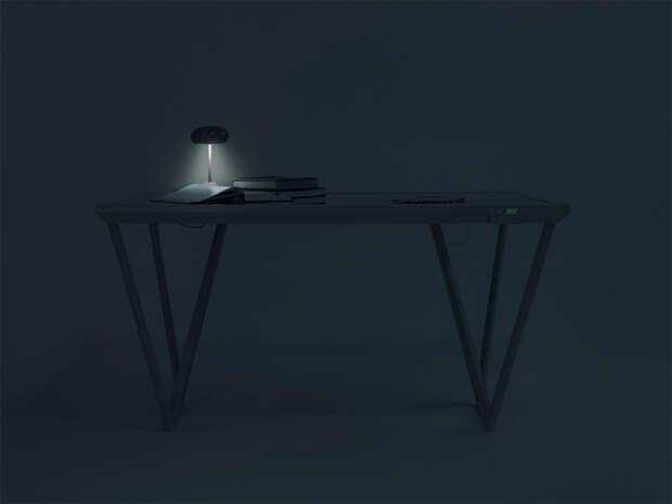 Это стол. За ним сидят. Ну, и заряжают девайсы.