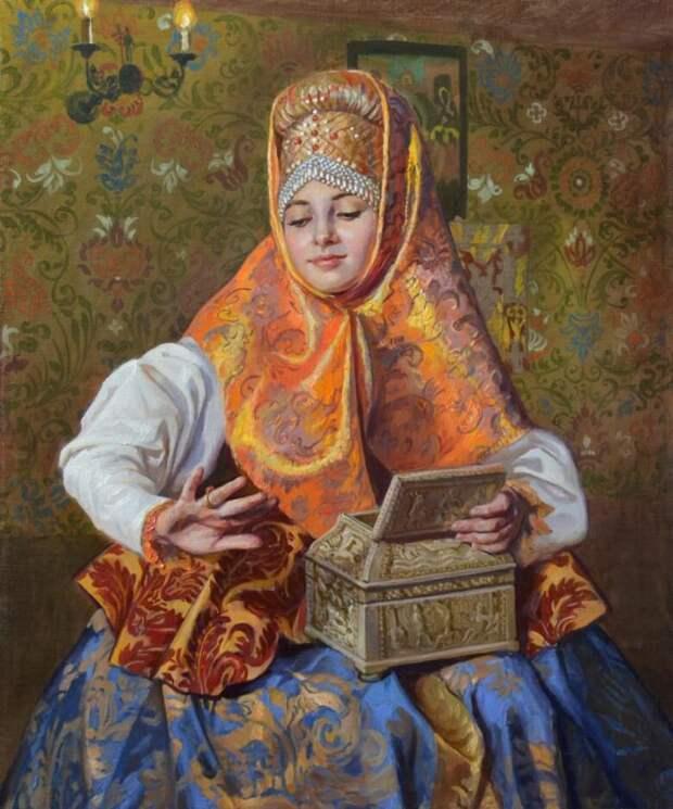 Неповторимый русский колорит в работах Марии Молодых.