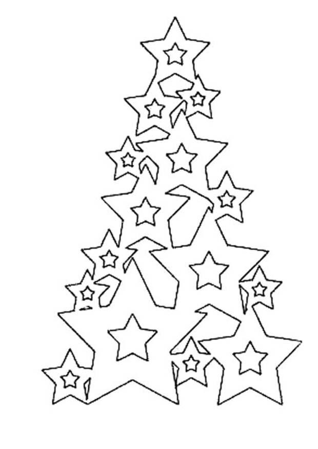 Звёздная ёлочка из бумаги