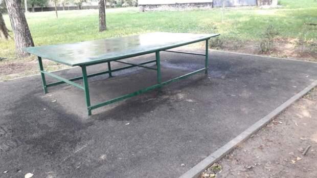 Стол для пинг-понга в Анадырском проезде привели в порядок