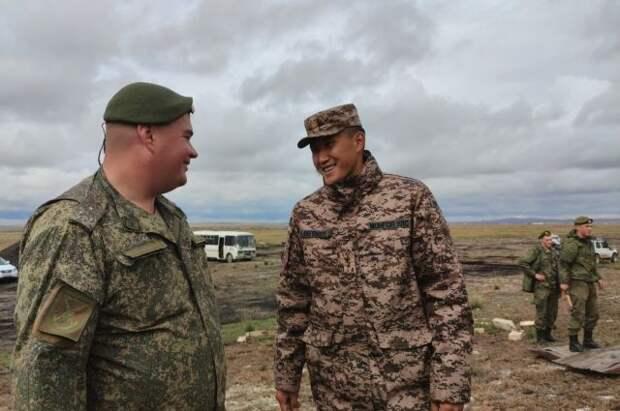 Участников военного учения «Селенга-2021» торжественно встретили в Монголии