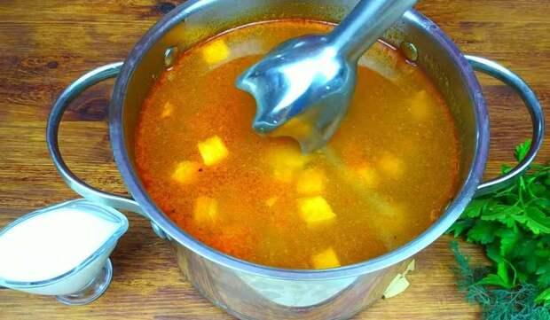 превращение супа в пюре