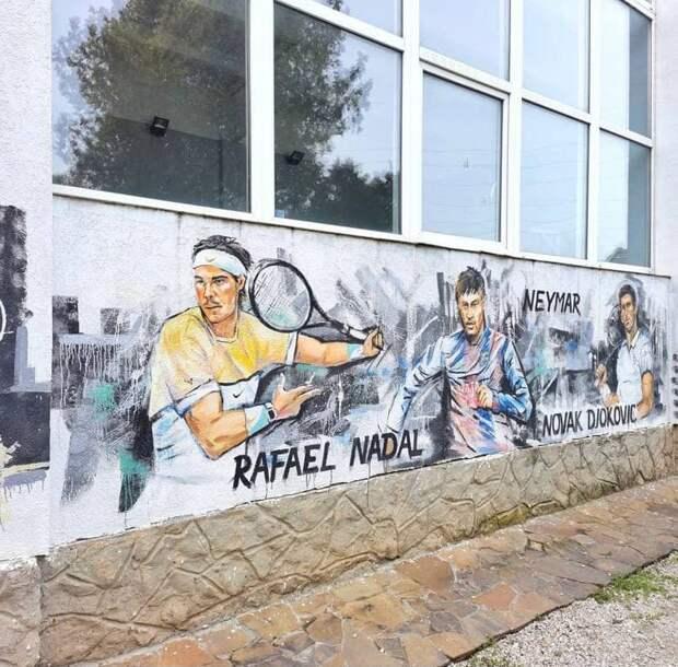 В Керчи появилось граффити с известными спортсменами