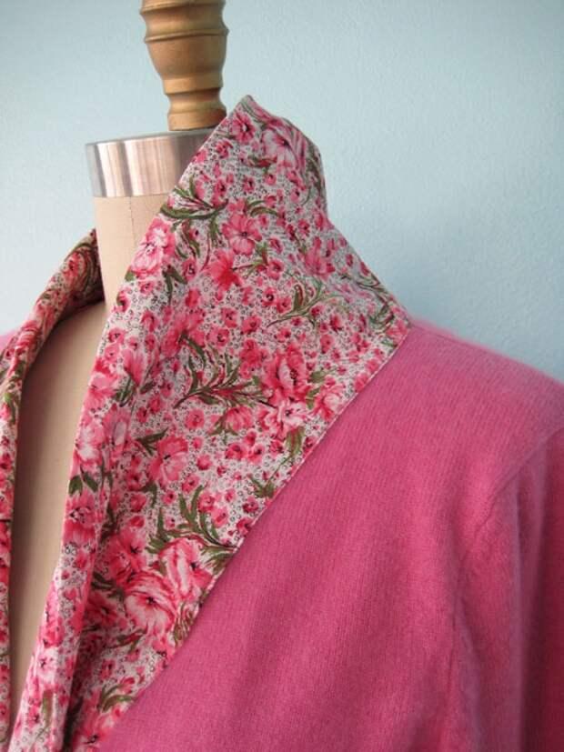 Переделка пуловера - с шелком (Diy)