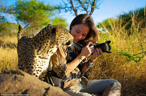 Бесстрашная фотограф из ЮАР, с которой дикие звери становятся ручными