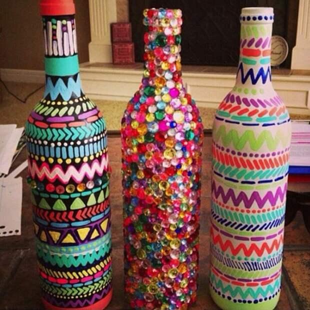 Что делать со стеклянными бутылками после праздников: 25 крутых идей, которые преобразят интерьер