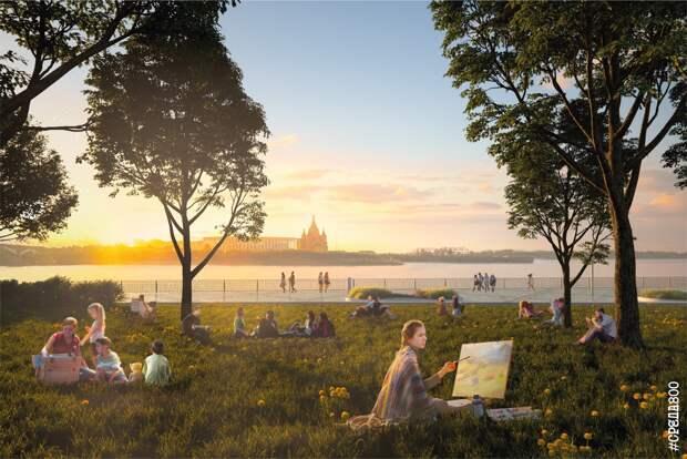 Благоустройство Нижневолжской набережной началось: смотрим, как будет выглядеть общественное пространство