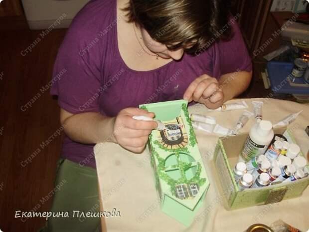 Декор предметов Мастер-класс 8 марта День рождения Декупаж МК Чайного домика Бумага Дерево Крупа фото 29